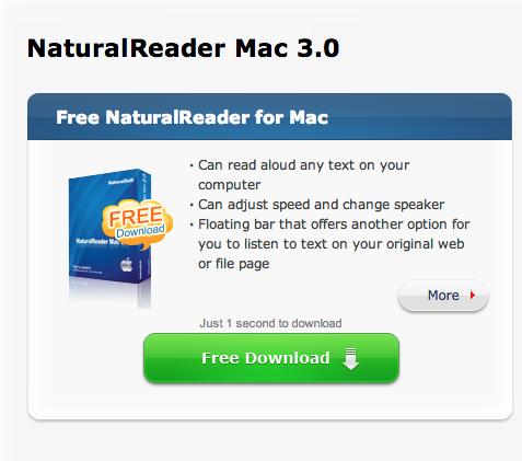 Lettore vocale gratuito per Mac