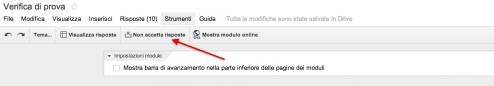 Google forms non accetta risposte