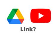 Link Drive e YouTube